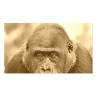 gorille amical, sépia carte de visite standard