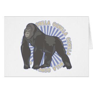 Gorille classique carte de vœux