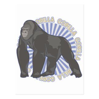 Gorille classique carte postale