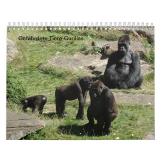 Gorille comme calendrier