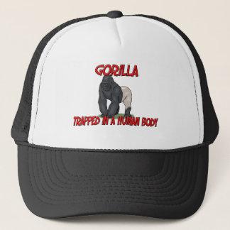 Gorille emprisonné à un corps humain casquettes de camionneur