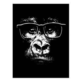 Gorille en verre carte postale