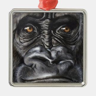 Gorille Ornement Carré Argenté
