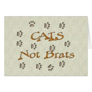Gosses de chats pas carte de vœux