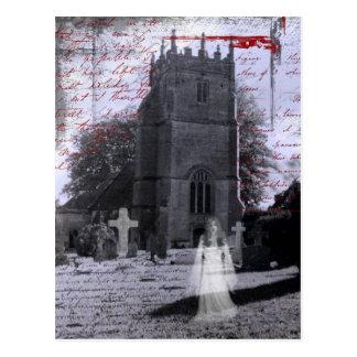 Goth a hanté la carte postale de cimetière
