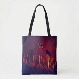 Goth Quoth Raven sous le ciel de minuit, Tote Bag