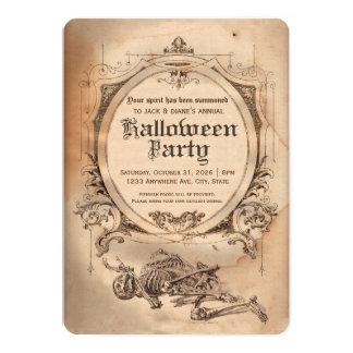 Gothique victorien d'invitation vintage de carton d'invitation  12,7 cm x 17,78 cm