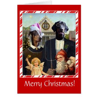 Gothiques américains drôles de carte de Noël de