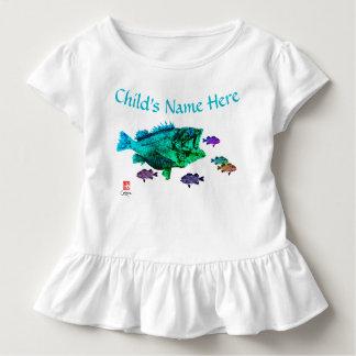 Goujon de mer affamé - pièce en t hérissée par t-shirt pour les tous petits