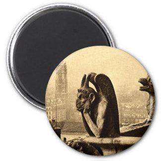 Goule Notre Dame, cru 1912 de Paris France Magnet Rond 8 Cm