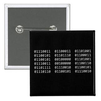Goupille binaire badges