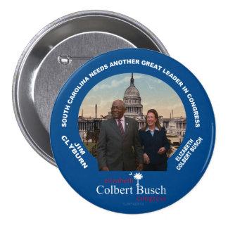 Goupille d'Elizabeth Colbert Busch et de JIM Clybu Pin's