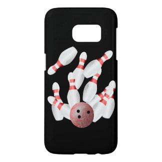 Goupilles de bowling de Tenpin et boule de bowling Coque Samsung Galaxy S7