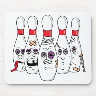 Goupilles de bowling tapis de souris