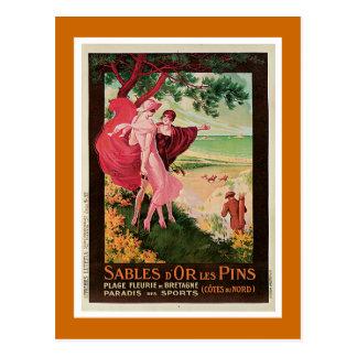 Goupilles de D'Or Les de sables, cru de la France Cartes Postales