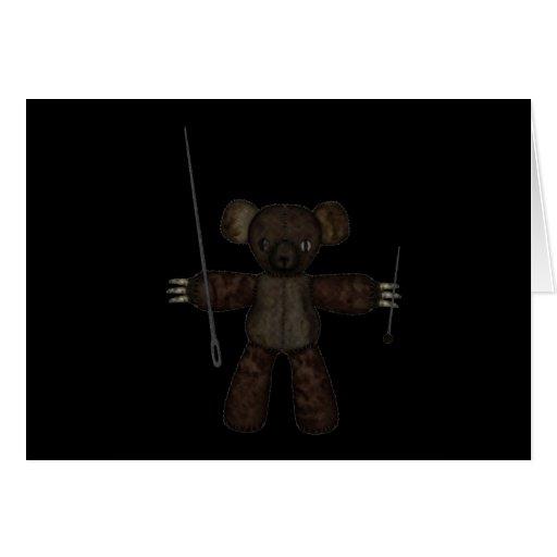 Goupilles et ours des aiguilles 3D Cartes De Vœux