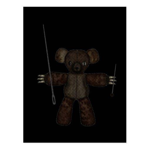 Goupilles et ours des aiguilles 3D Carte Postale