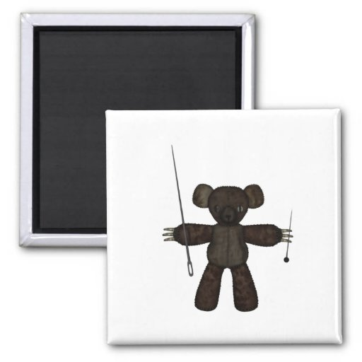Goupilles et ours des aiguilles 3D Aimants