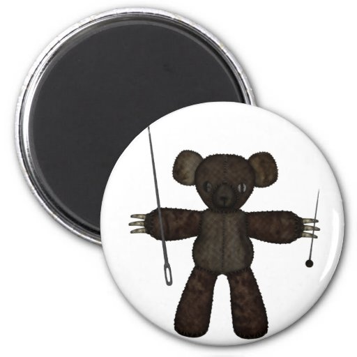 Goupilles et ours des aiguilles 3D Magnets Pour Réfrigérateur