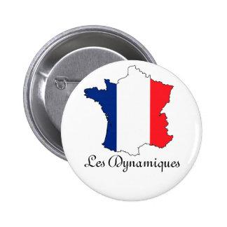 """Goupilles """"Les Dynamiques """" Badge Rond 5 Cm"""