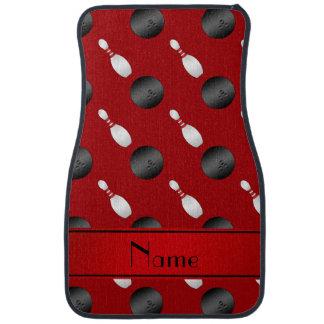 Goupilles rouges nommées personnalisées de boules tapis de voiture