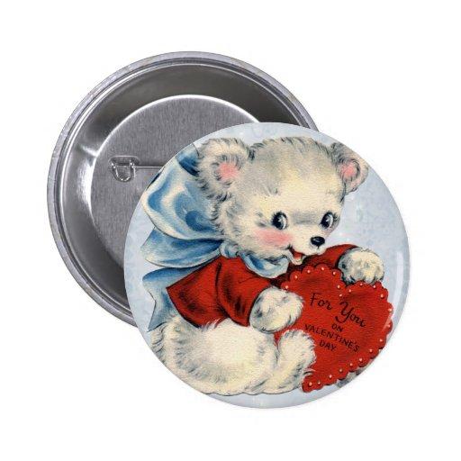 Goupilles vintages de Valentine d'ours de nounours Pin's