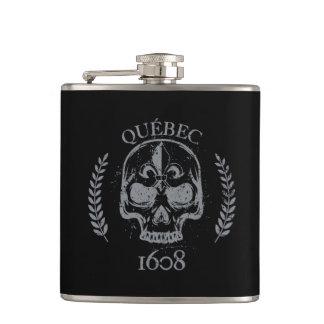 Gourde Flasque alcool Québec Skull/Crane Biker