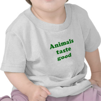 Goût d'animaux bon t-shirts