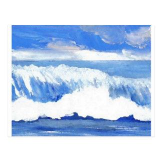 Goût de la mer - paysage marin bleu de ressacs carte postale