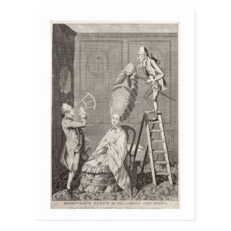 Goût ridicule ou l'absurdité de dames, pub. par carte postale