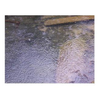 Gouttes de pluie dans un magma carte postale