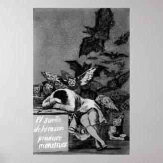 Goya le sommeil de la raison produit des monstres affiches