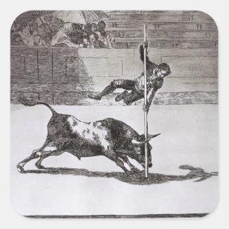 Goya-Vitesse de Francisco et audace de Juanito Autocollants Carrés
