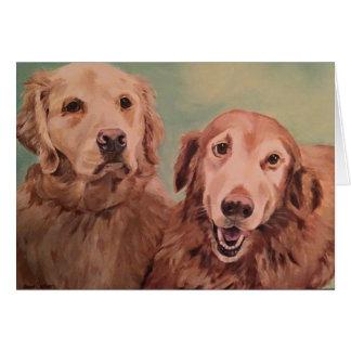 Gracie et Wesley - carte pour notes de portraits