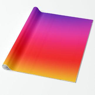 Gradient au néon coloré lumineux papier cadeau