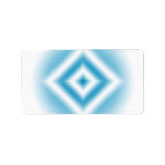 gradient bleu de diamant de Personnaliser-ciel Étiquettes D'adresse