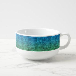 Gradient bleu et vert bol à potage