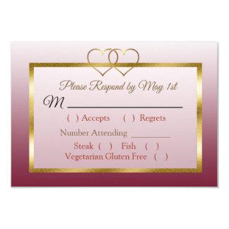 Gradient de Bourgogne et d'or épousant la carte de