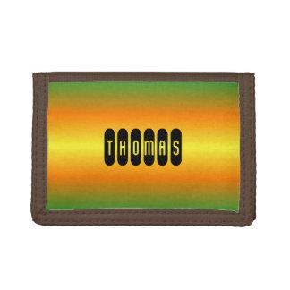 Gradient orange vert nommé fait sur commande