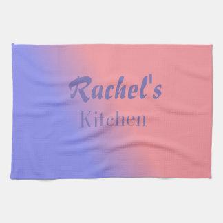 Gradient rose et bleu personnalisable serviettes éponge