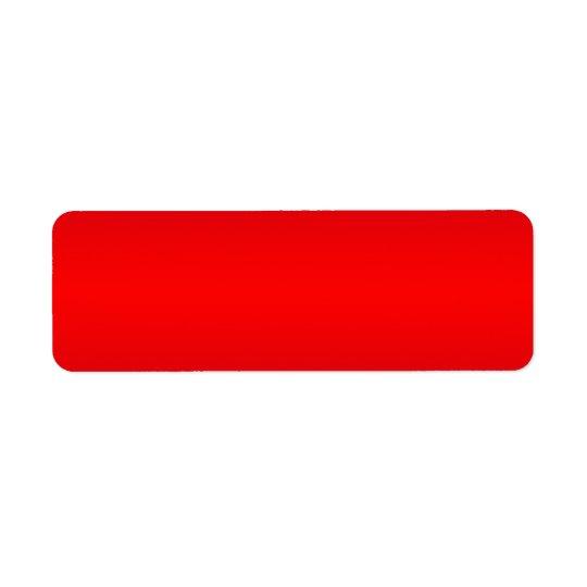 Gradient rouge nucléaire - blanc de modèle de étiquette d'adresse retour