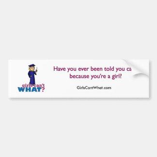 Graduation de fille autocollant pour voiture