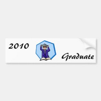 Graduation de garçon adhésif pour voiture