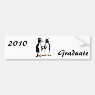 Graduation de pingouins autocollants pour voiture