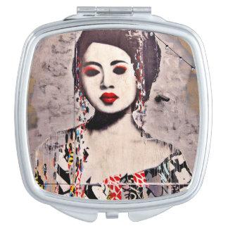 Graffiti beau miroir compact