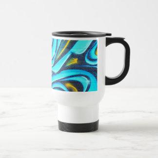 Graffiti bleu tasses à café
