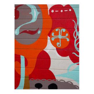 Graffiti coloré carte postale