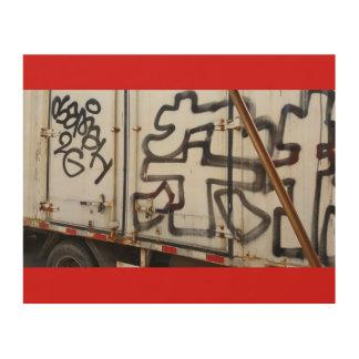 Graffiti de camion de Pékin Impression Sur Bois