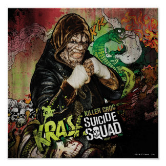 Graffiti de caractère de Croc de tueur du peloton Posters