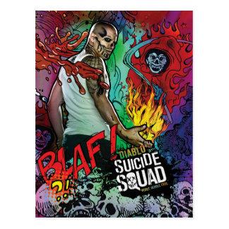 Graffiti de caractère du peloton | Diablo de Carte Postale